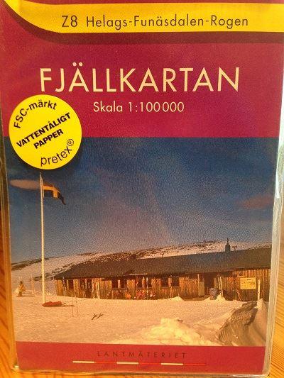 Z 8 Helags-Funäsdalen-Rogen 1:100 000