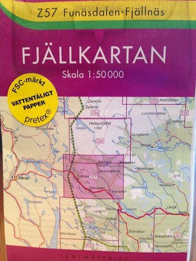 Z 57 Funäsdalen-Fjällnäs 1:50 000