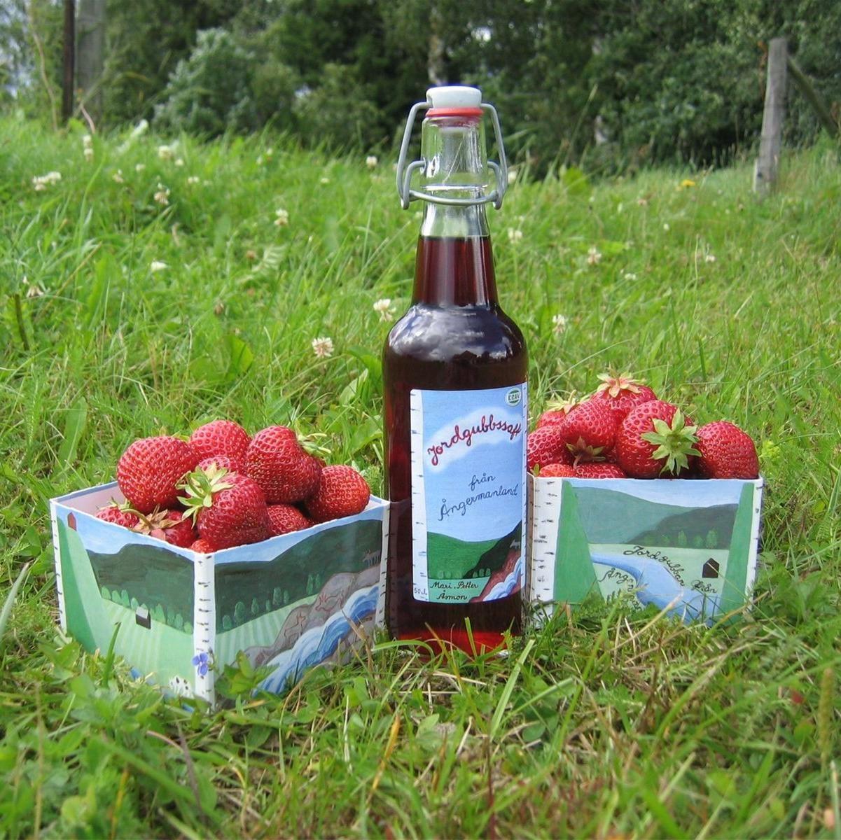 KRAV certifierade jordgubbar från Åsmon.