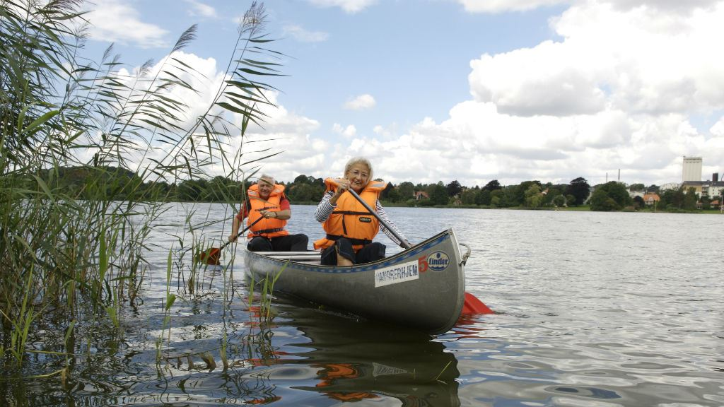 Canoeing on Haderslev Dam