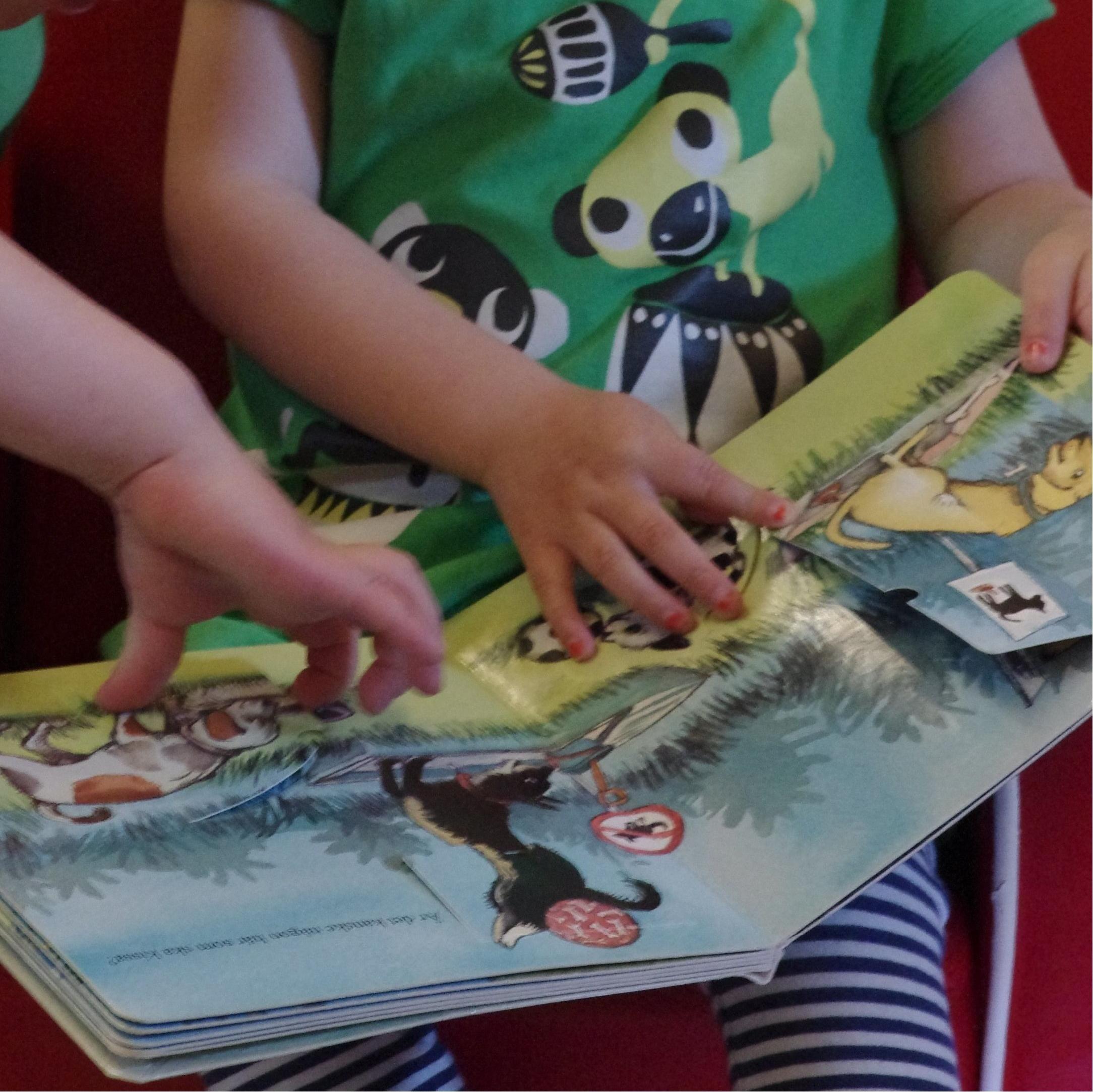 Samtal om läsning med babysaga