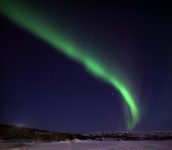 Northern lights hunt along the Russian border-sled trip