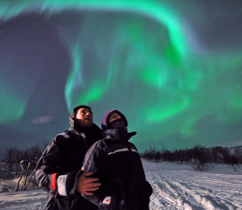 © Andy Colbourne, Kirkenes SnowHotel Hunting northern lights with Husky
