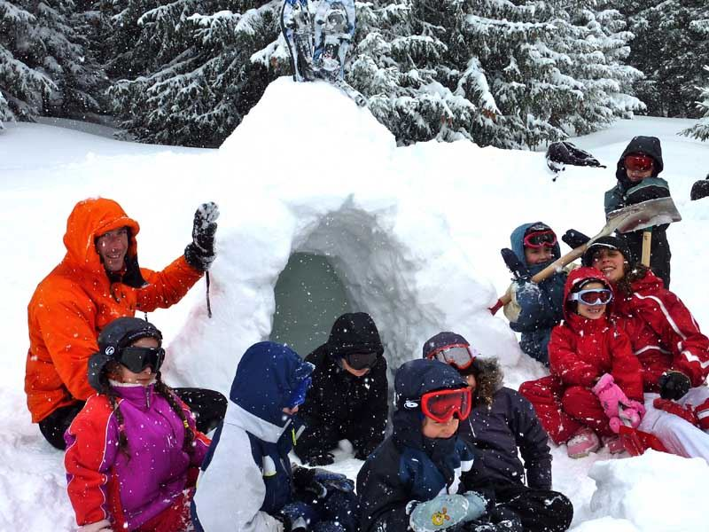 ADVENTURE SCHOOL EVOLUTION 2 - IGLOO PARTY FOR CHILDREN FROM 7 TO 13 YEARS OLD