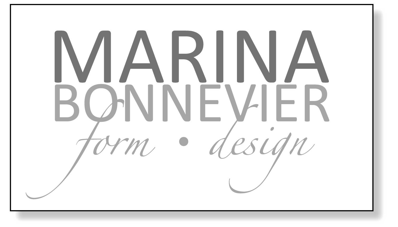Marina Bonnevier Form/Design