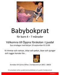 Babybokprat för barn 4-7 månader