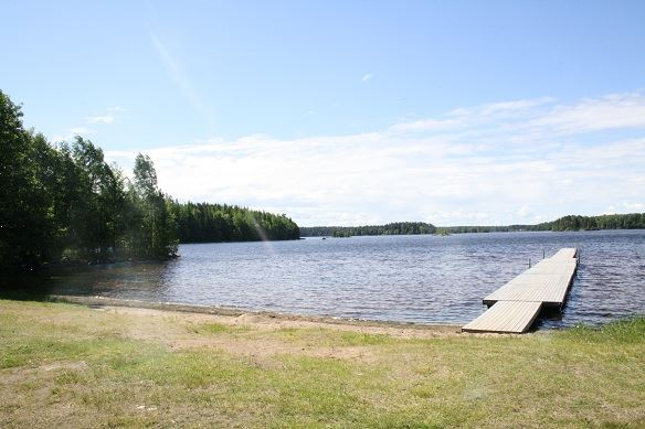 Eskeryd bathing area, Hästsjön lake, Solberga