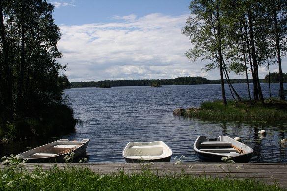Eskeryd bathing area, Hästsjön lake, Solberga