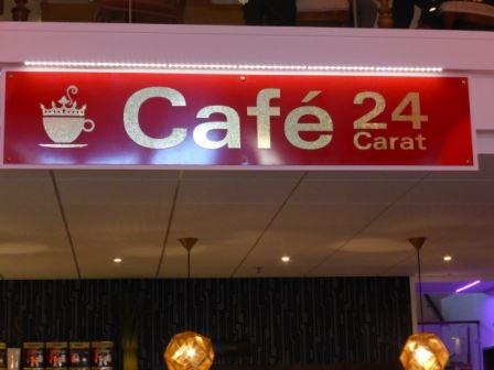 Café 24 Carat på gallerian Guldsmeden