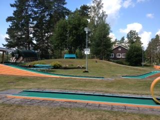 Minigolf på campingen i Ljungby