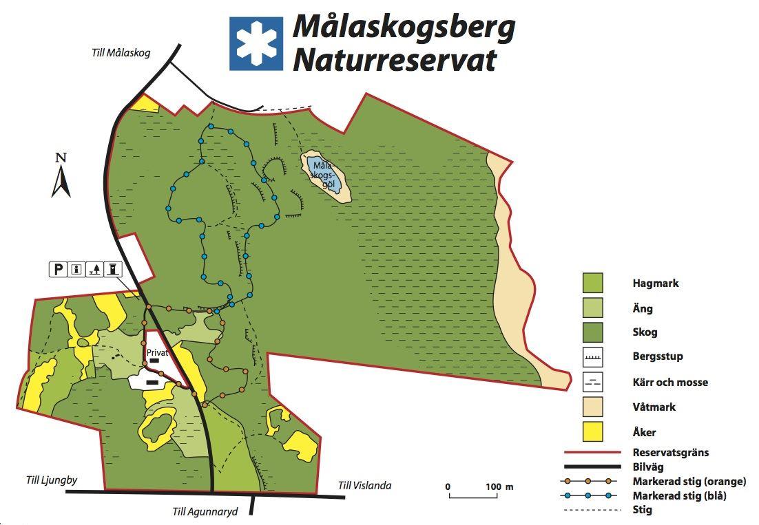 © Länsstyrelsens kronobergs län, Naturreservat Målaskogsberg