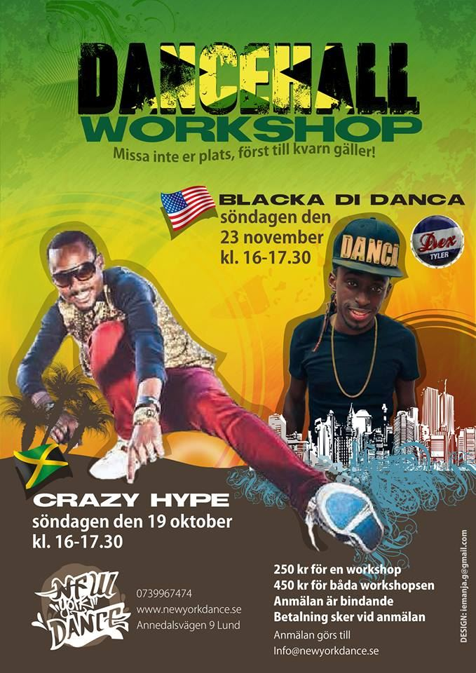 Dancehall workshop med Blacka Di Danca