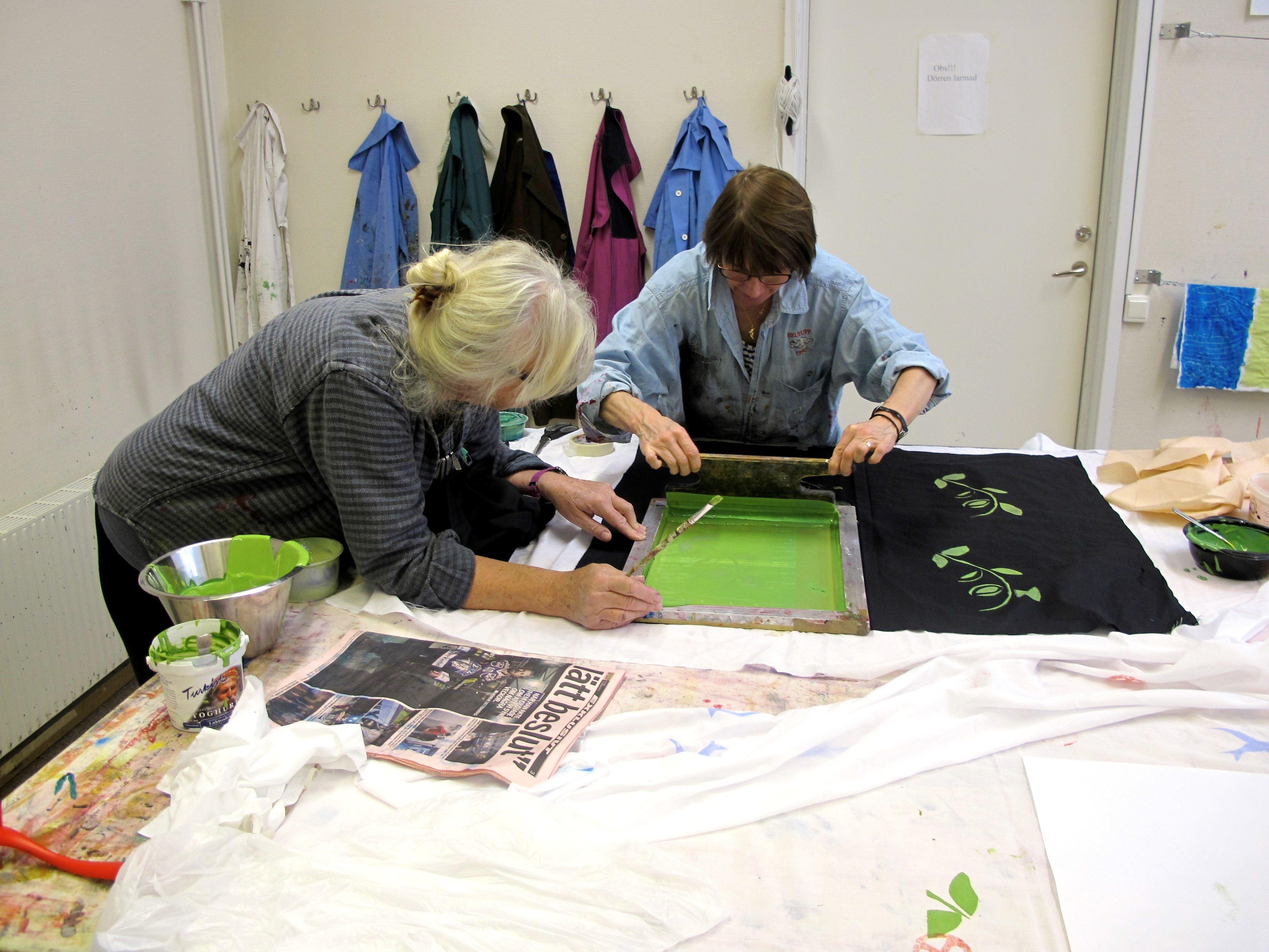 Kurs i textiltryck