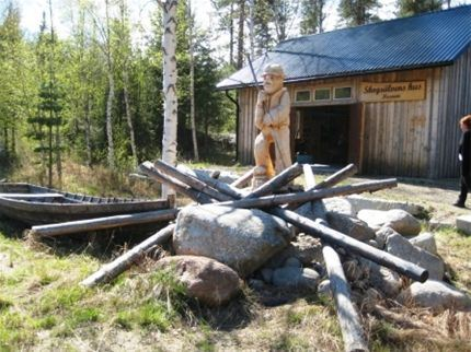 © Bjurholms kommun, Flottarmuseum vid Lillänget, Lögdeälven