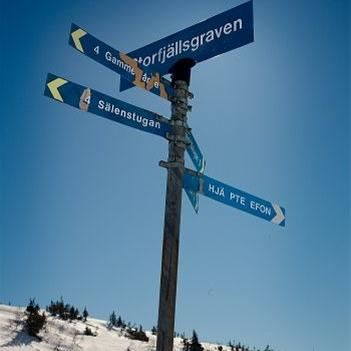 Cross-country skiing trails Högfjällshotellet