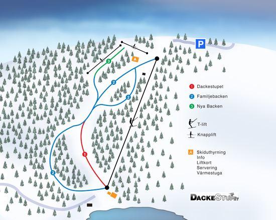 Skipass für Dackestupet in Virserum