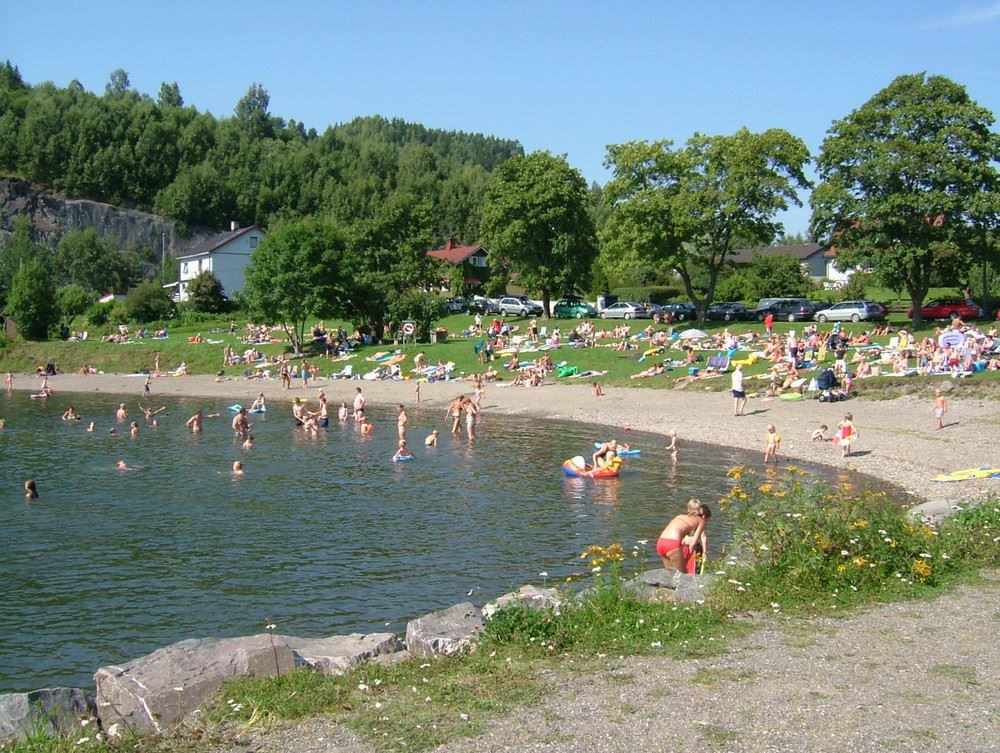 Beaches and bathing in Lillehammer region