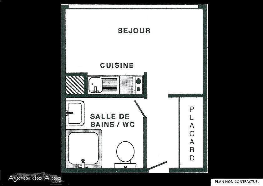 Studio 2 Pers skis aux pieds / TOUGNETTE 1539