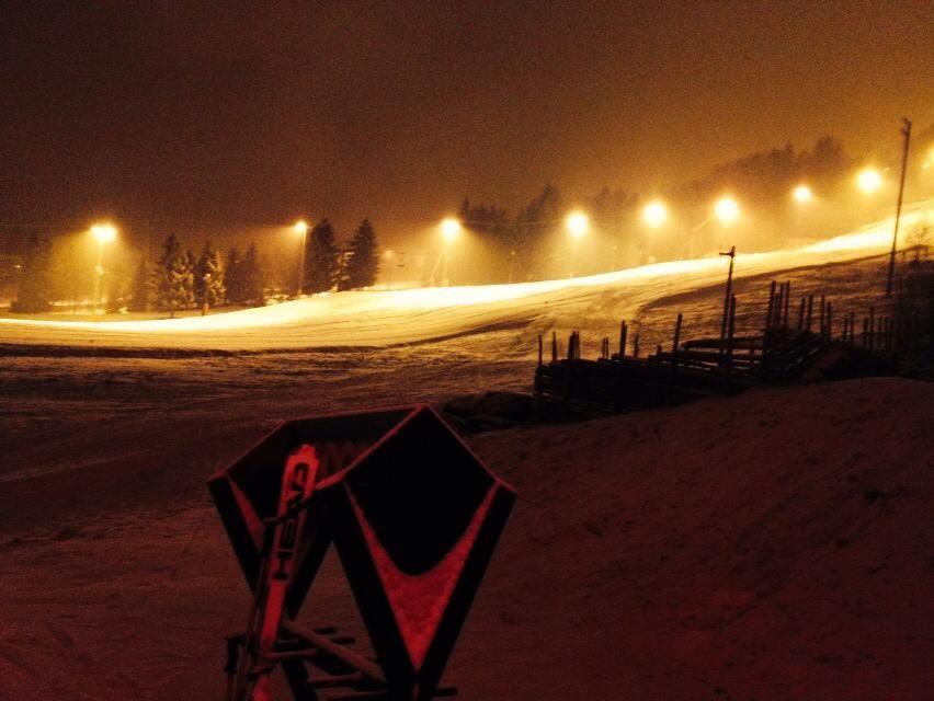 Night skiing in Hafjell