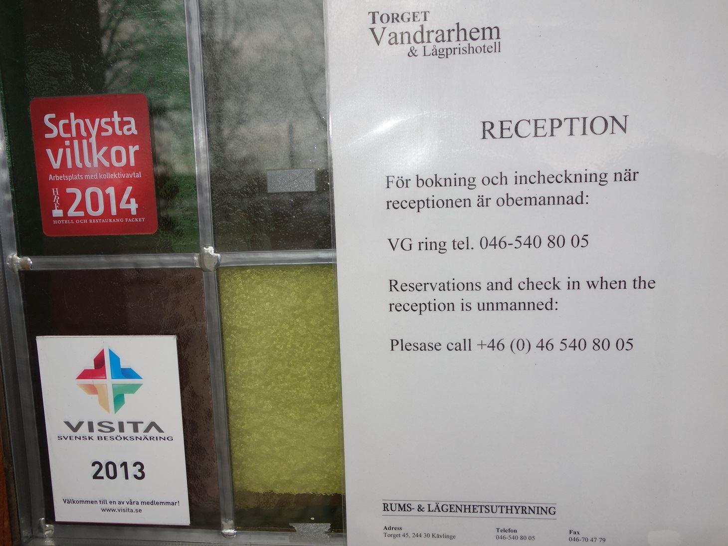 Torget Hostel in Kävlinge, SVIF