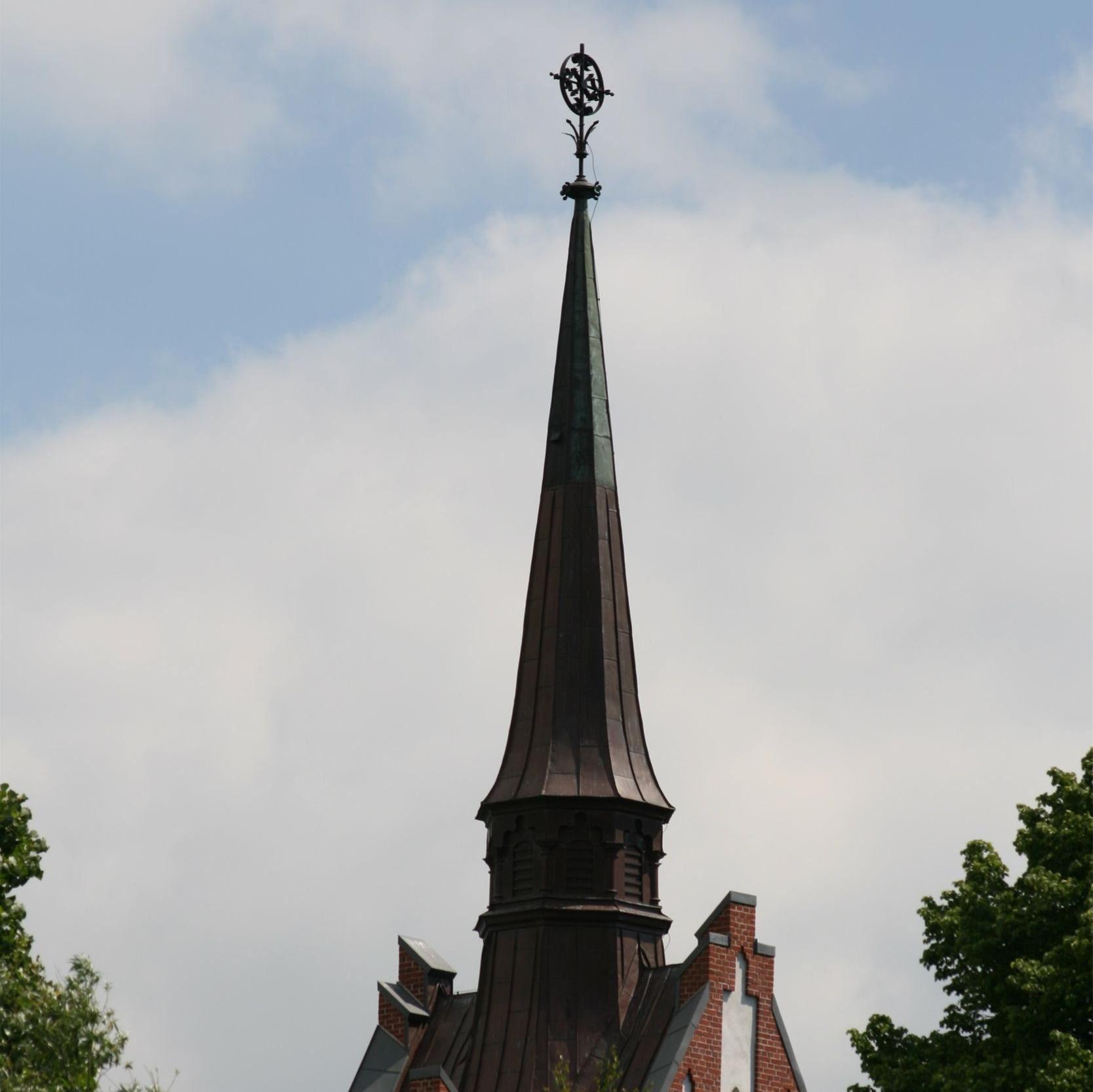 © Kävlinge kommun, Korsbackakyrkans tornspira