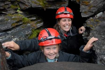 Abisko - Grottäventyr i Kåppashålagrottan
