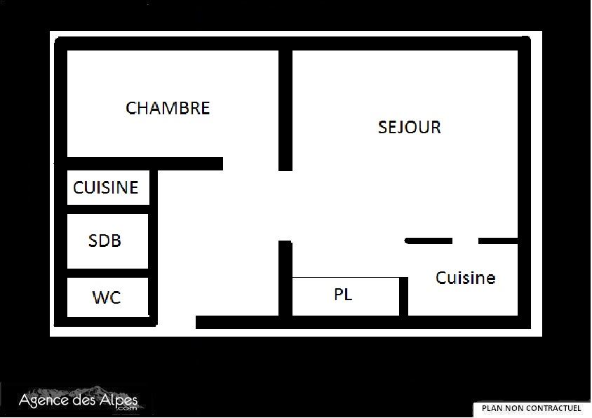 2 Rooms 6 Pers ski-in ski-out / CHAVIERE 723