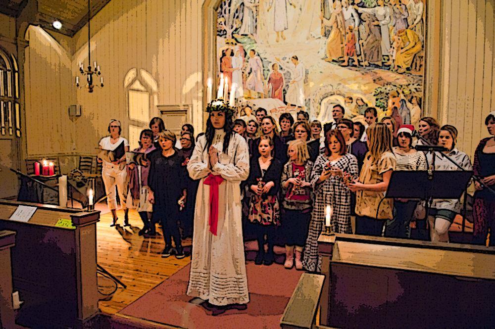 Luciafirande i Tärna kyrka