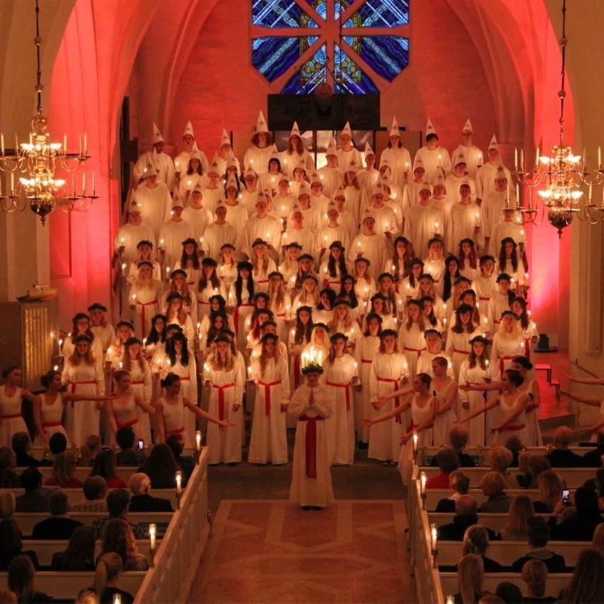 Växjös Luciafirande 2014 i domkyrkan