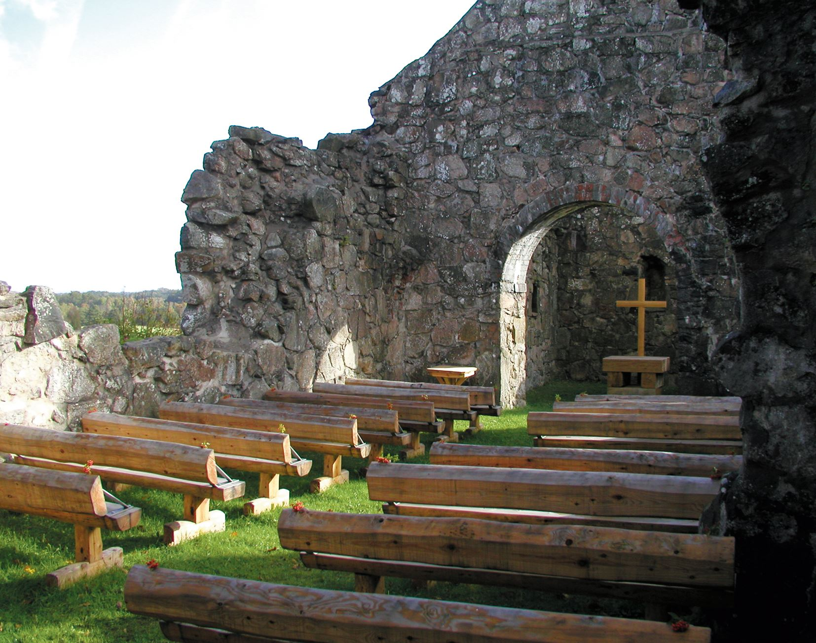 Rya kirkeruin - Rya kyrkoruin (Rya gamla kyrka)