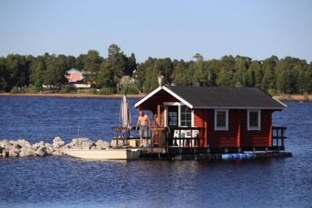 Bastuflotte i Siljan - Rättvik