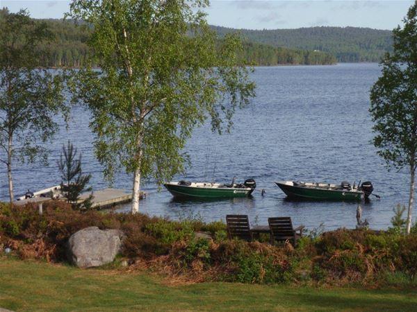 Båtar att hyra vid Edsleskogs Wärdshus i Dalsland