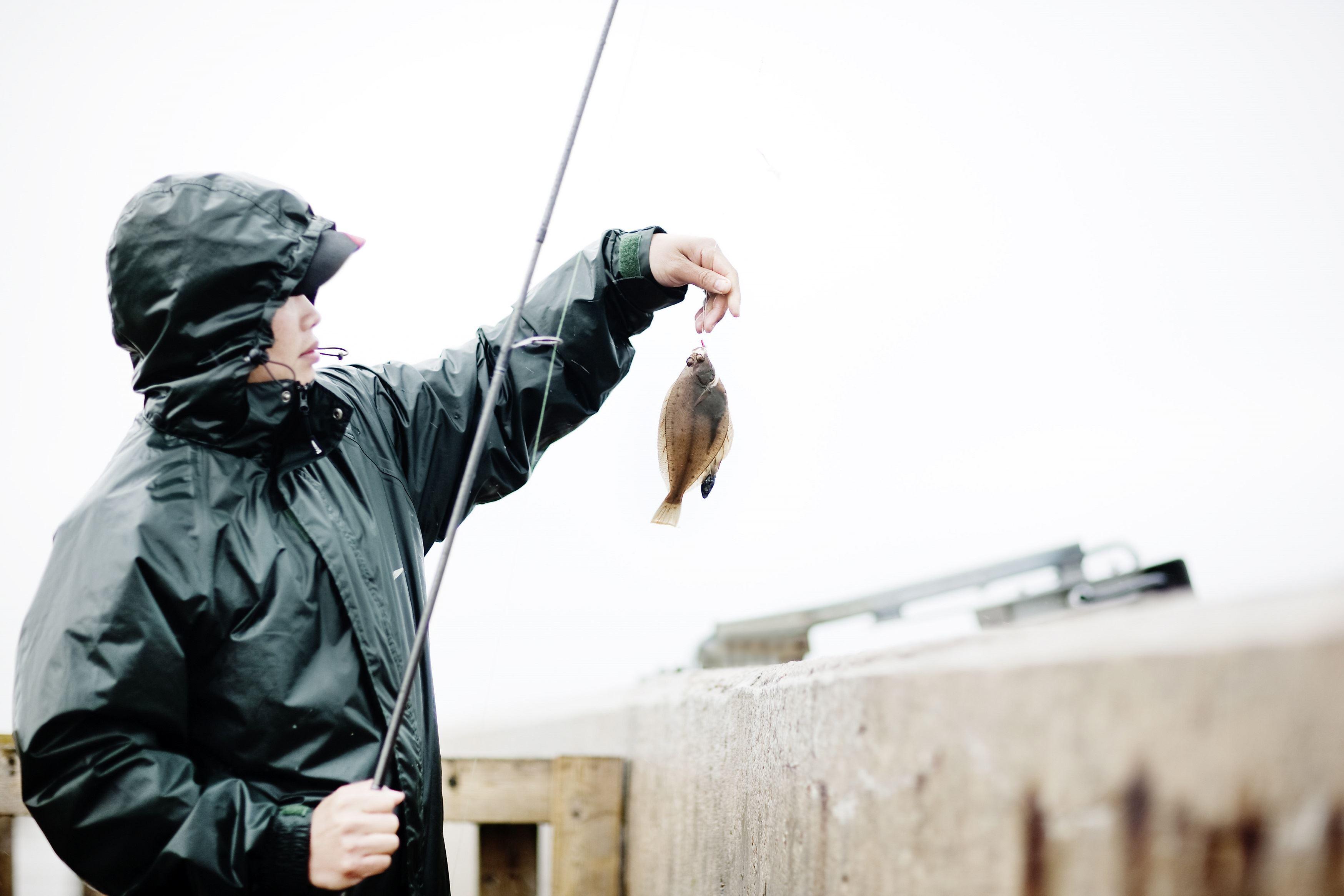 Fiska från Hamnpirarna