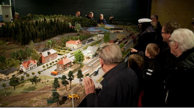Visning av modelljärnvägen i Hässleholm