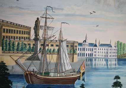 Karin Sandström, Panaoramabild från Stockholm från 1857.
