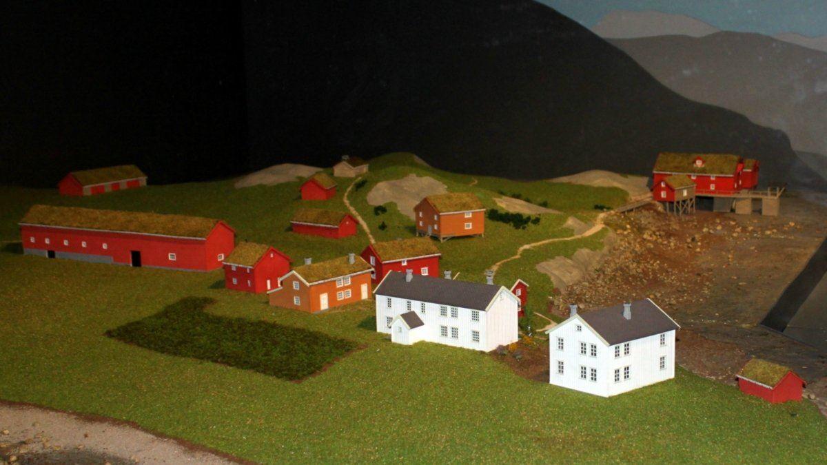 Visit Narvik, Illustrasjon av Moslings Gård i Narvik - den første gården i Narvik