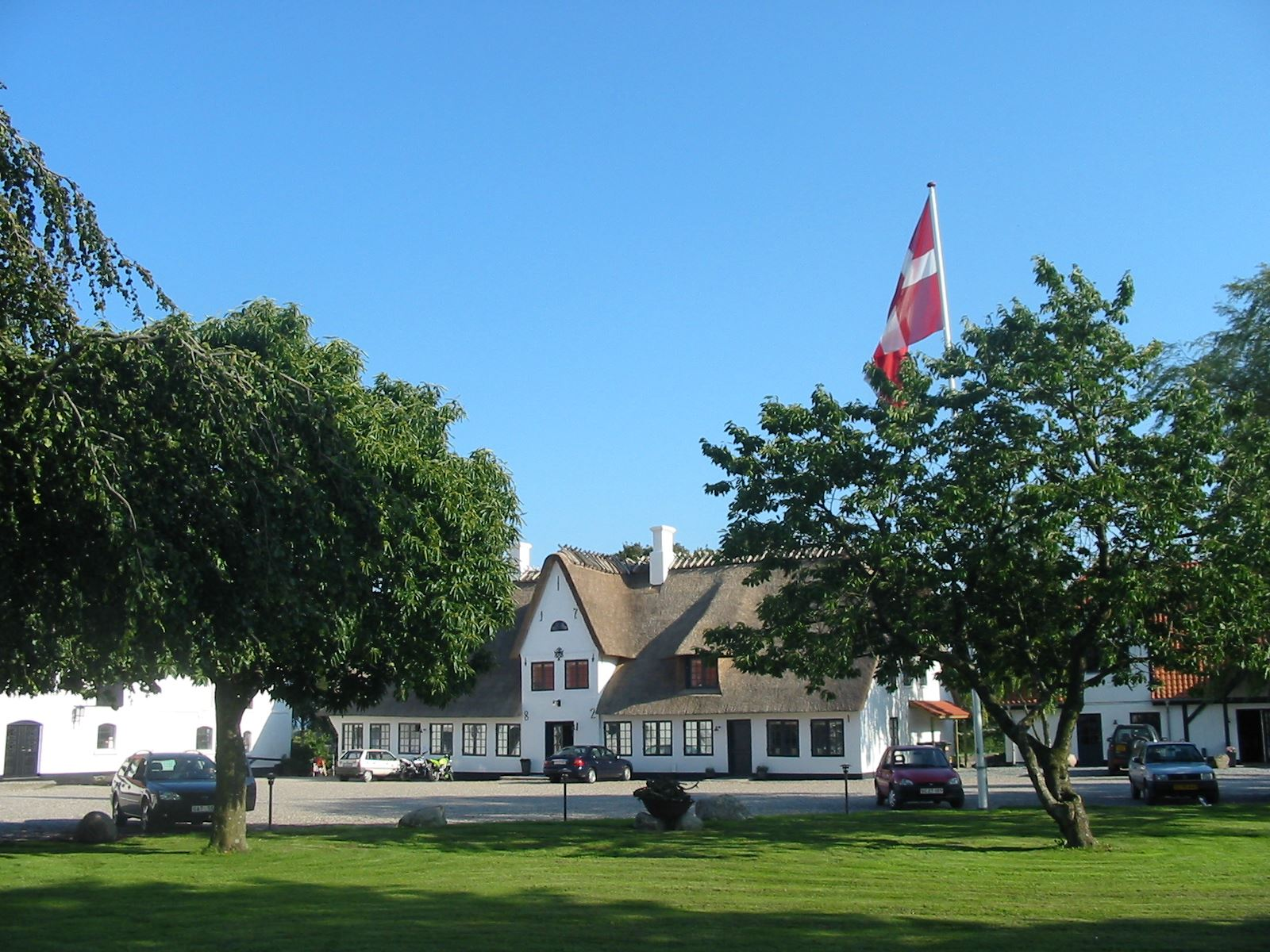 Benniksgaard is surrounded by idyllic countryside