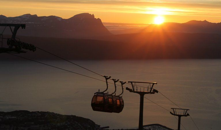 Midnight sun in The Narvik Region