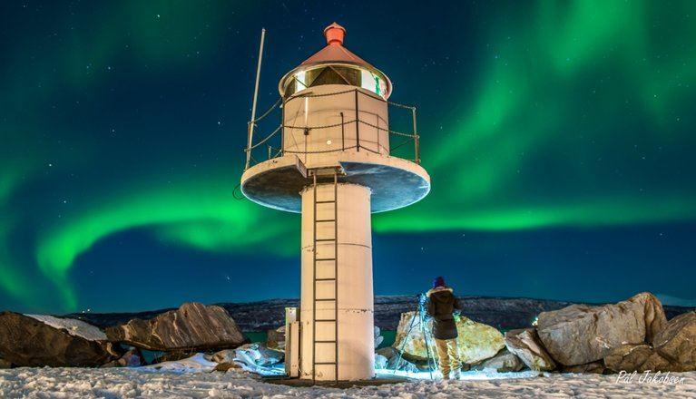 Pål Jakobsen, Nordlys over småbåthavna i Narvik