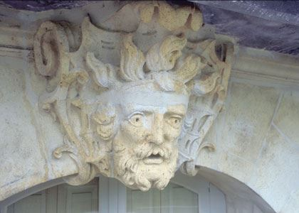 © lvan, mascaron de l'île Feydeau, XVIIIe, à Nantes
