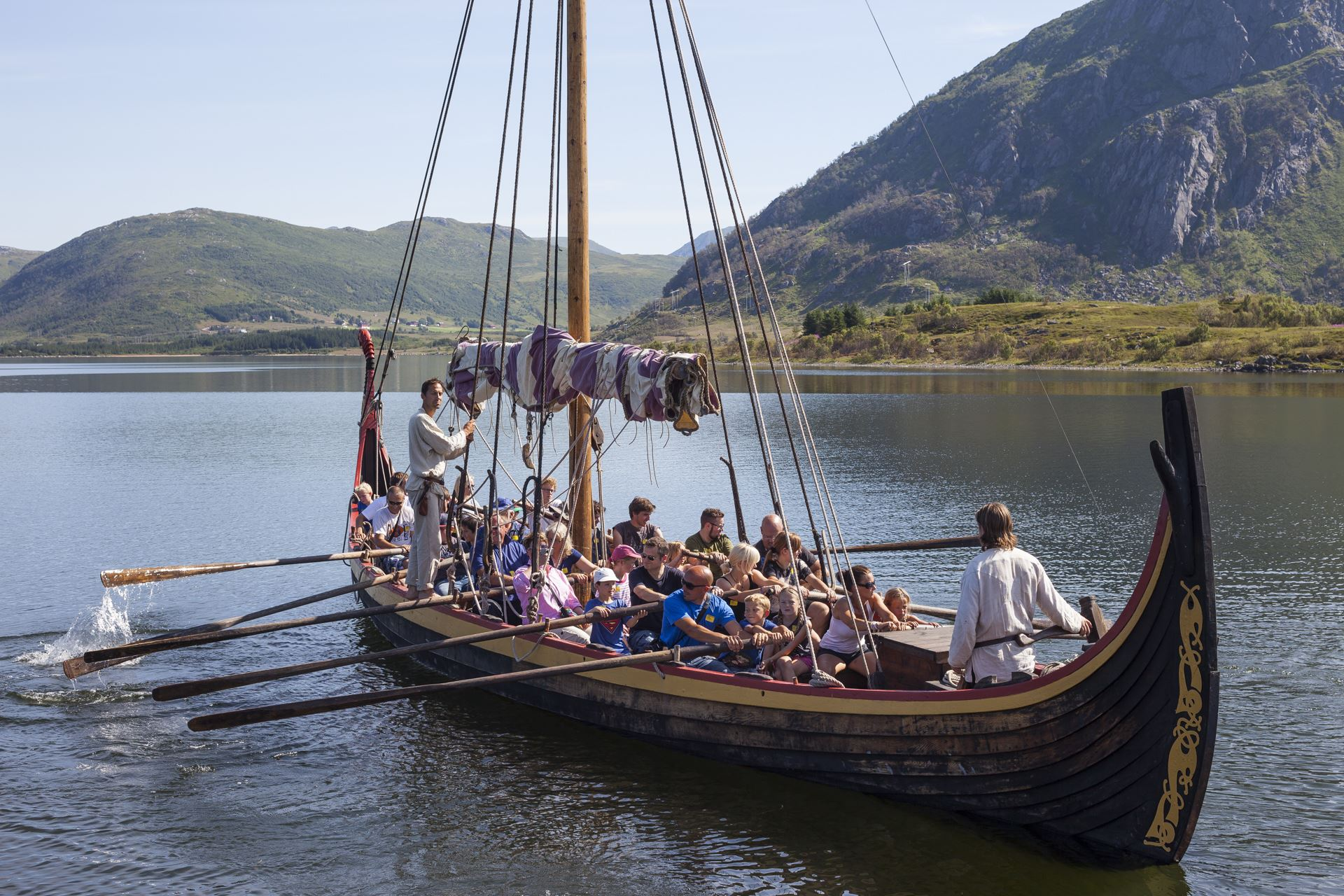 Row the Viking Ship at Lofotr Vikingmuseum!