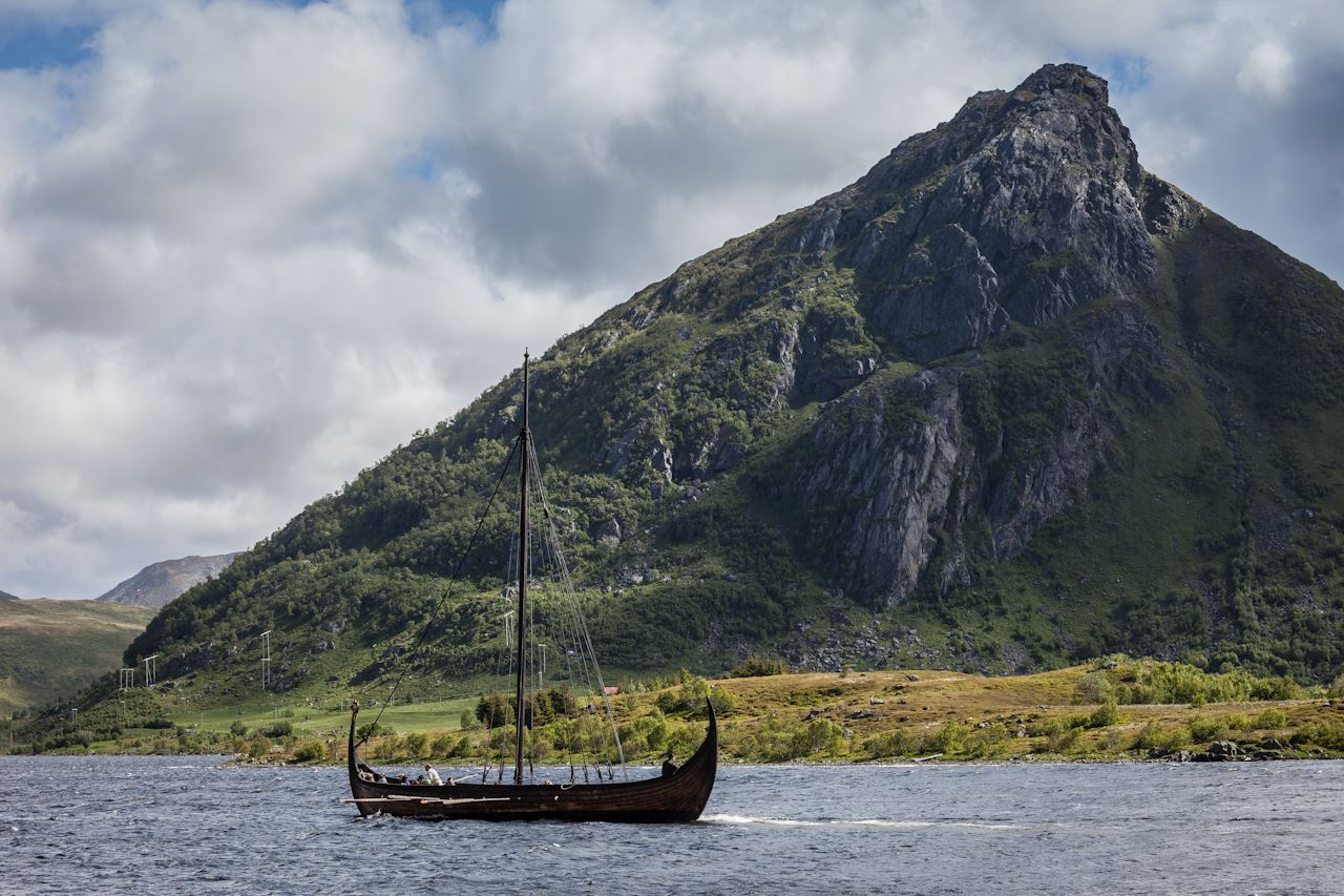 Hoist the sail at Lofotr Vikingmuseum!
