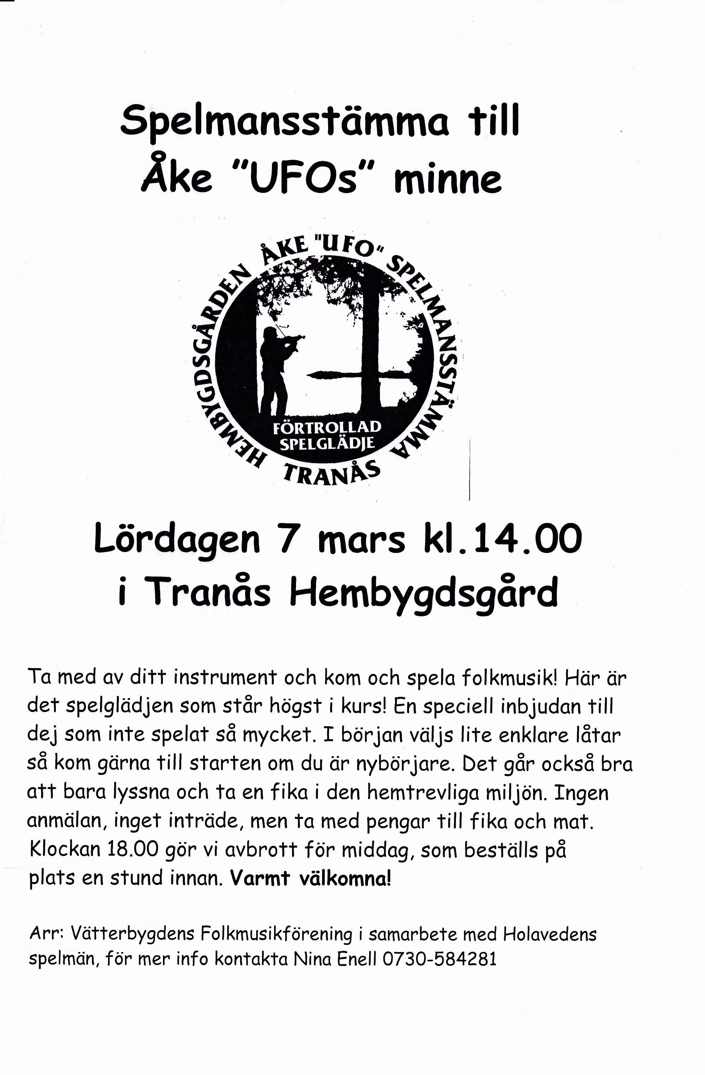 Spelmansstämma till minne av Åke