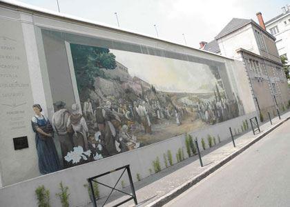 © lvan, Fresque des Acadiens, quartier Sainte Anne à Nantes