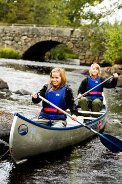 Paddla kanot på Helgeå