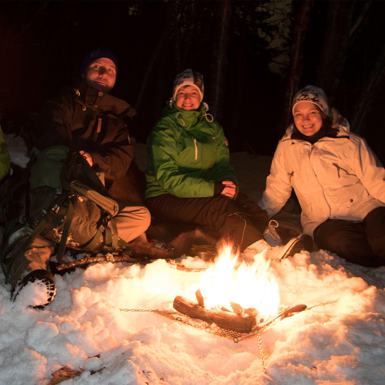 Snöskotur med skattjakt i Tärnaby