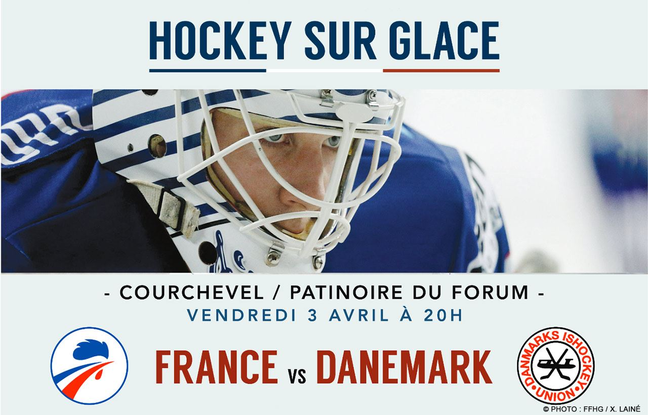 France / Denmark Hockey game ticket April 3rd + Courchevel Valley ski pass