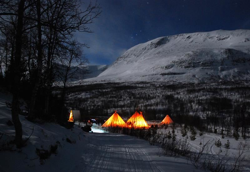 © Lyngsfjord Adventure, Northern Lights Reindeer Sledding Camp Tamok  - Lyngsfjord Adventure