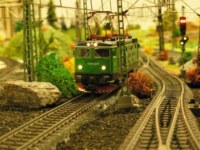 Model railroad - a miniature country