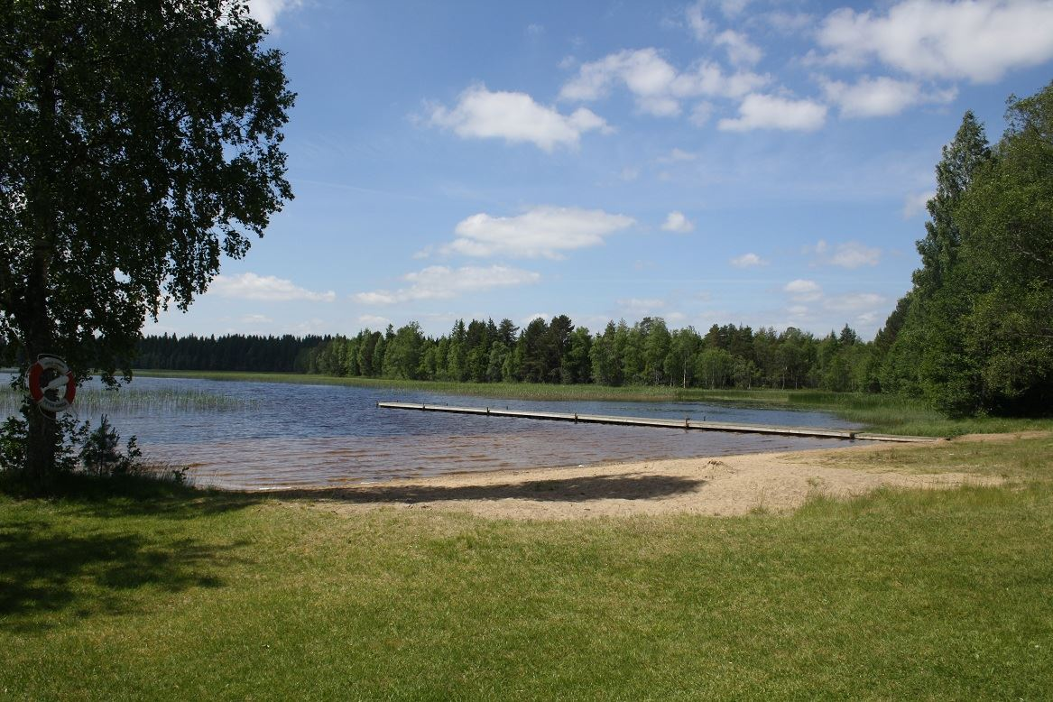 Ormaryd bathing area, Sjunnarydssjön lake